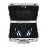 Master & Dynamic - MW60 - Halliburton Case - Silver Metal / Navy Leather - Premium High Quality Wireless Over-Ear Headphones