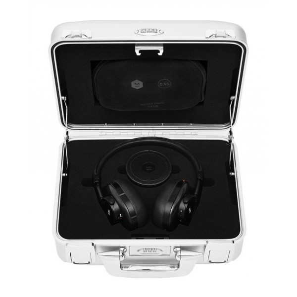 Master & Dynamic - MW60 - Halliburton Case - Leica 0.95 - Nero - Cuffie Auricolari Premium Wireless di Alta Qualità