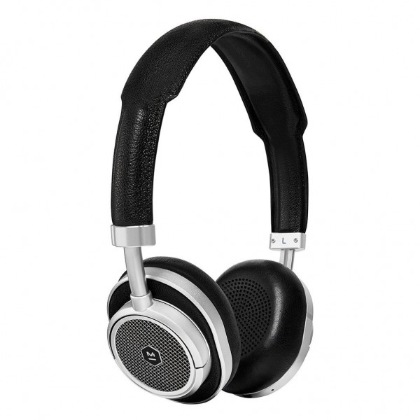 Master & Dynamic - MW50 - Silver Metal / Black Leather - Premium High Quality and Performance Wireless On-Ear Headphones