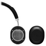 Master & Dynamic - MW50 - Metallo Argento / Pelle Nera - Cuffie Auricolari Premium Wireless - Alta Qualità - Alte Prestazioni