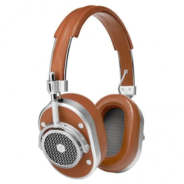 Master & Dynamic - MH40 - Metallo Argento / Pelle Marrone - Cuffie Auricolari Premium di Alta Qualità ad Alte Prestazioni