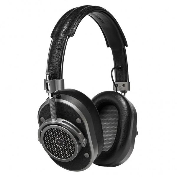 Master & Dynamic - MH40 - Metallo Fucile / Pelle Nera - Cuffie Auricolari Premium di Alta Qualità ad Alte Prestazioni