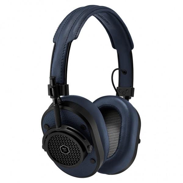 Master & Dynamic - MH40 - Metallo Nero / Pelle Navy - Cuffie Auricolari Premium di Alta Qualità ad Alte Prestazioni
