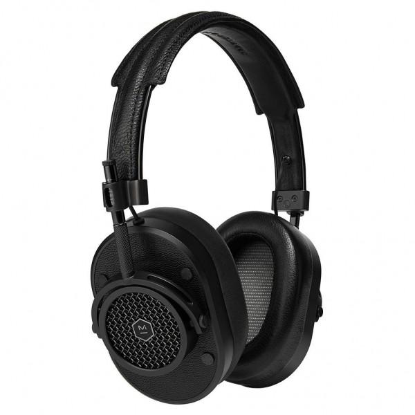 Master & Dynamic - MH40 - Metallo Nero / Pelle Nera - Cuffie Auricolari Premium di Alta Qualità ad Alte Prestazioni