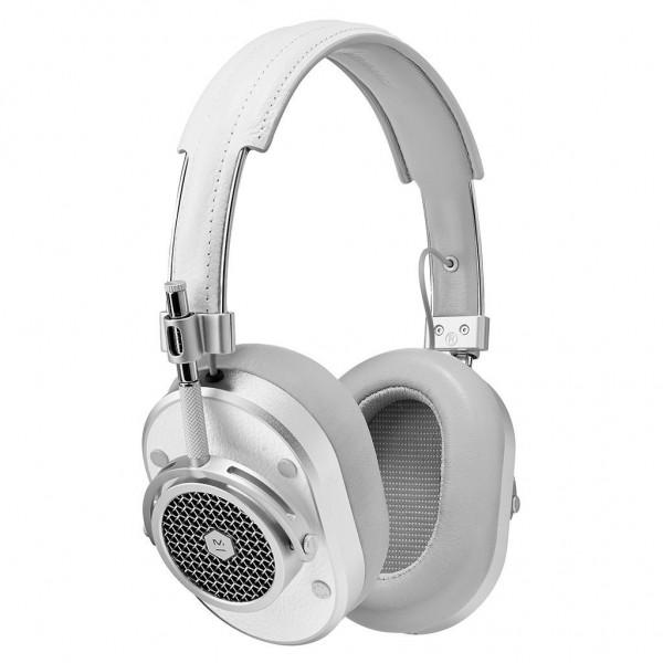 Master & Dynamic - MH40 - Metallo Argento / Pelle Bianca - Cuffie Auricolari Premium di Alta Qualità ad Alte Prestazioni