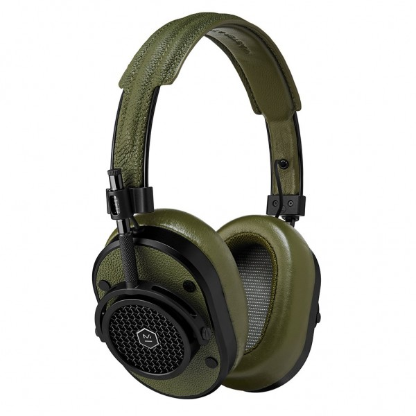 Master & Dynamic - MH40 - Black Metal / Olive Leather - Premium High Quality and Performance Over-Ear Headphones