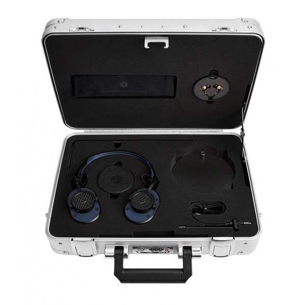 Master & Dynamic - MH40 - Zero Halliburton Kit - Black Metal / Navy Leather - Premium High Quality Over-Ear Headphones