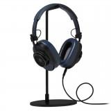 Master & Dynamic - MH40 - Zero Halliburton Kit - Metallo Nero / Pelle Navy - Cuffie Auricolari Premium di Alta Qualità