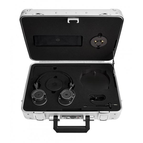 Master & Dynamic - MH40 - Zero Halliburton Kit - Gunmetal / Black Leather - Premium High Quality Over-Ear Headphones