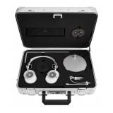 Master & Dynamic - MH40 - Zero Halliburton Kit - Metallo Argento / Pelle Bianca - Cuffie Auricolari Premium di Alta Qualità