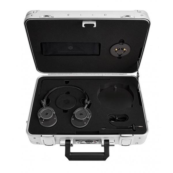 Master & Dynamic - MH40 - Zero Halliburton Kit - Black Metal / Alcantara Black - Premium High Quality Over-Ear Headphones