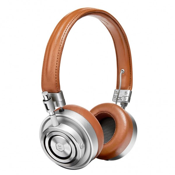 Master & Dynamic - MH30 - Silver Metal / Brown Leather - Premium High Quality and Performance On-Ear Headphones