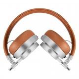 Master & Dynamic - MH30 - Metallo Argento / Pelle Marrone - Cuffie Auricolari Premium di Alta Qualità ad Alte Prestazioni