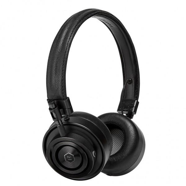 Master & Dynamic - MH30 - Metallo Nero / Pelle Nera - Cuffie Auricolari Premium di Alta Qualità ad Alte Prestazioni