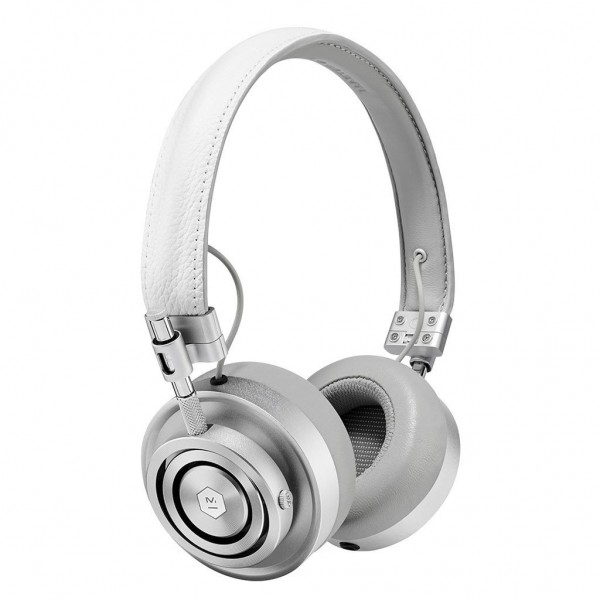 Master & Dynamic - MH30 - Silver Metal / White Leather - Premium High Quality and Performance On-Ear Headphones