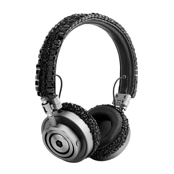 Master & Dynamic - MH30 - Limited Edition - Carolyn Rowan - Gunmetal / Black Beaded Swarovski - Premium On-Ear Headphones
