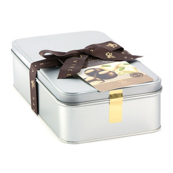 Vincente Delicacies - Assortment of Classic Almond Cookies and with Sicilian Pistachios Covered with Chocolate - Luxor Box