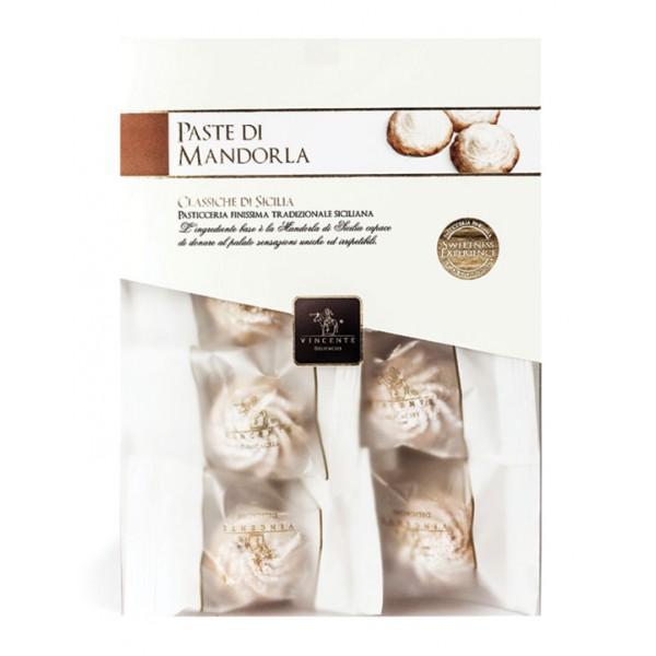 Vincente Delicacies - Paste di Mandorla Sicilia Classiche - Fine Pasticceria in Confezione Crystal