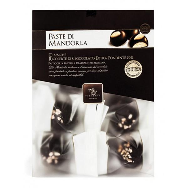 Vincente Delicacies - Paste di Mandorla Sicilia Classiche Ricoperte di Cioccolato Extra Fondente - Crystal