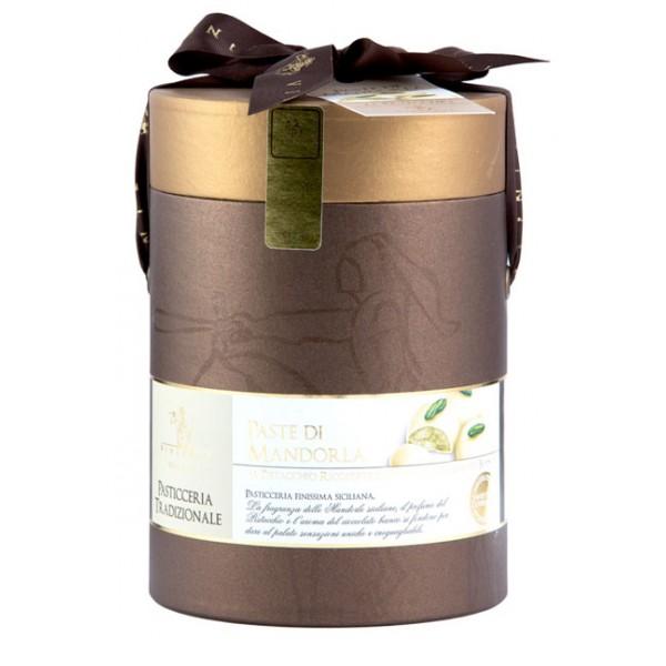Vincente Delicacies - Paste di Mandorla Sicilia Pistacchio Ricoperte di Finissimo Cioccolato Bianco - Cilindro