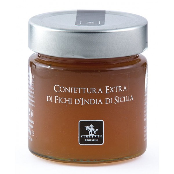 Vincente Delicacies - Confettura Extra di Fichi d'India di Sicilia - Marmellate e Confetture Artigianali