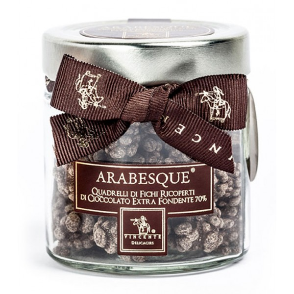 Vincente Delicacies - Dried Figs Covered with 70% Extra Dark Chocolate - Arabesque - Natural Dried Fruits