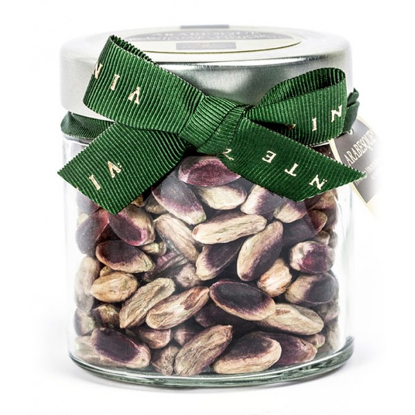 Vincente Delicacies - Green Pistachio from Bronte P.D.O. - Arabesque - Dried Fruits in Ribbon Box