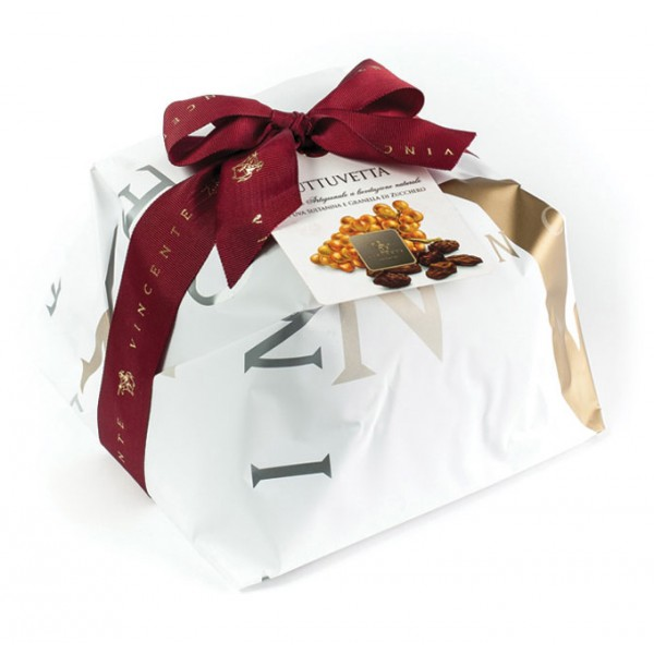 Vincente Delicacies - Glazed Panettone with Sultanas - Tuttuvetta - Hand Wrapped Artisan