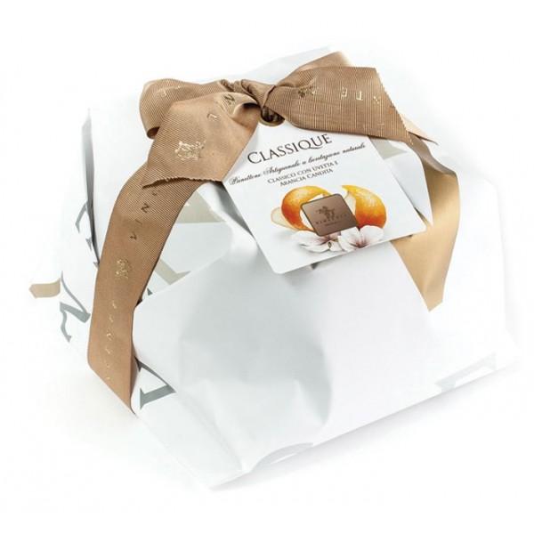 Vincente Delicacies - Panettone Classico Big con Uvetta e Canditi d'Arancia - Classique - Artigianale Incartato a Mano
