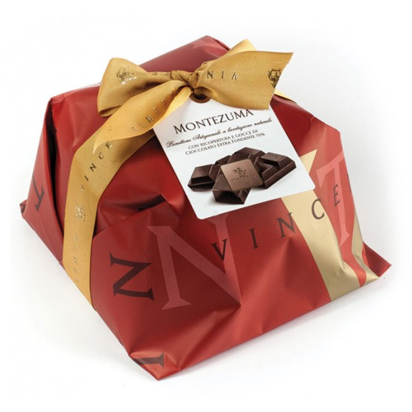 Vincente Delicacies - Panettone Coated with 70% Extra Dark Chocolate - Montezuma - Hand Wrapped Artisan