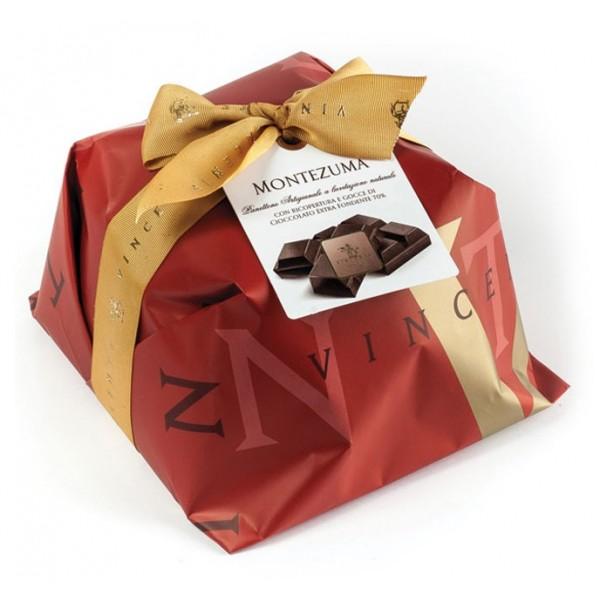 Vincente Delicacies - Panettone Ricoperto di Cioccolato Fondente Extra 70% - Montezuma - Artigianale Incartato a Mano
