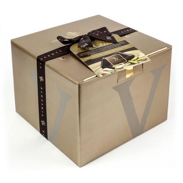 4dfe6019179 Vincente Delicacies - Panettone Coated with Dark Chocolate and Sicilian  Pistachio Stuffed with Pistachio Cream - Le Chic - Avvenice