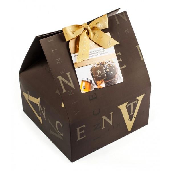 Vincente Delicacies - Panettone Ricoperto di Cioccolato Fondente con Marmellata Arancia Rossa - Mélange