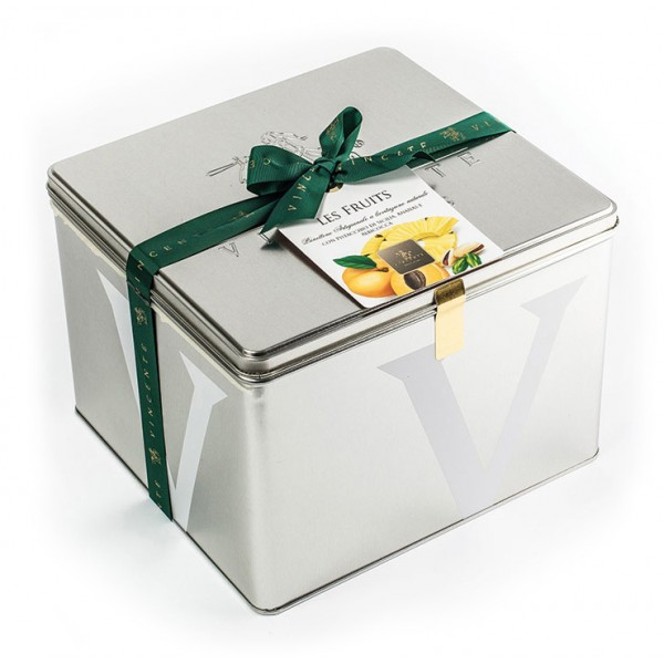 Vincente Delicacies - Panettone with Sicilian Pistachio, Pineapple and Apricot - Les Fruits - Artisan in Metallic Box