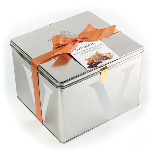 Vincente Delicacies - Panettone with Almonds, Raisin and Candied Orange - Mandorlo - Artisan in Metallic Box