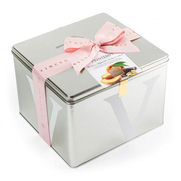 Vincente Delicacies - Panettone with Sicilian Pistachio, Peach and Chocolate - Printemps - Artisan in Metallic Box