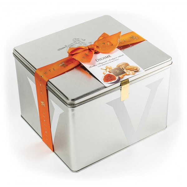 Vincente Delicacies - Panettone with Malvasia, Figs and Walnuts - Didime - Artisan in Metallic Box