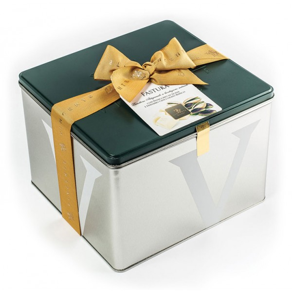 Vincente Delicacies - Panettone Covered with White Chocolate with Sicilian Pistachio - Fastuka - Artisan in Metallic Box