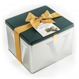 Vincente Delicacies - Panettone Ricoperto di Cioccolato Bianco con Pistacchio di Sicilia - Fastuka - Artigianale Metallico