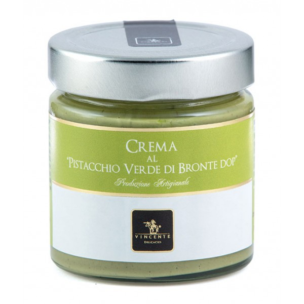 Vincente Delicacies - Sweet Cream Spread with Green Pistachio from Bronte P.D.O. - Artisan Spreadable Creams - 180 g