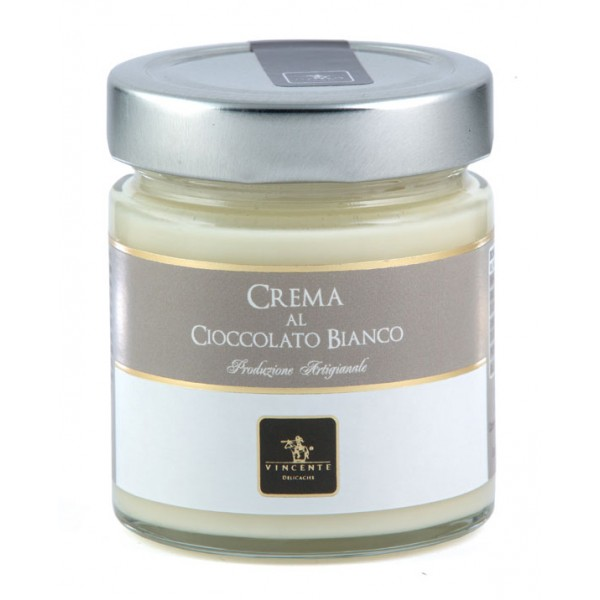 Vincente Delicacies - Sweet Cream Spread with White Chocolate - Artisan Spreadable Creams - 180 g