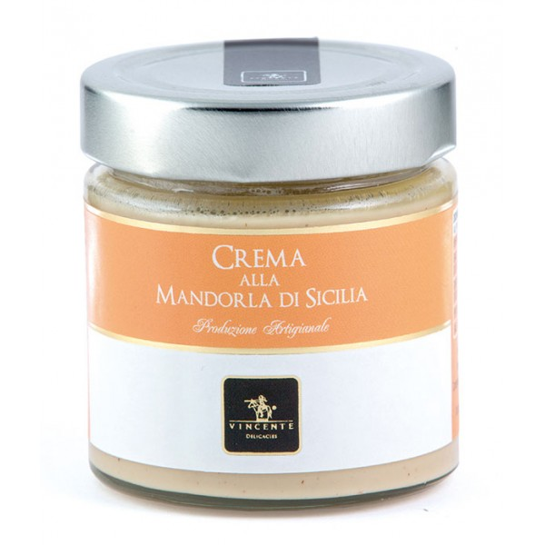 Vincente Delicacies - Sweet Cream Spread with Sicilian Almonds - Artisan Spreadable Creams - 180 g