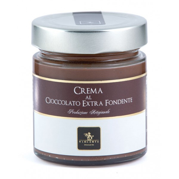 Vincente Delicacies - Sweet Cream Spread with Dark Chocolate - Artisan Spreadable Creams - 180 g