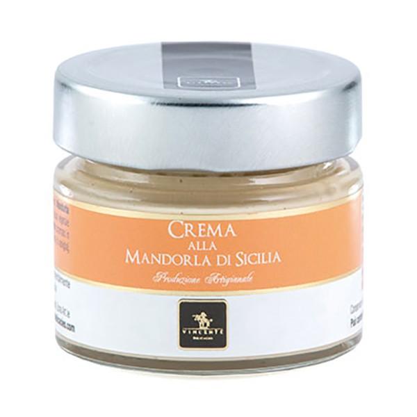 Vincente Delicacies - Crema alla Mandorla di Sicilia - Creme Spalmabili Artigianali - 90 g