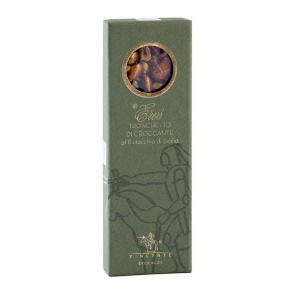 Vincente Delicacies - Tronchetto di Croccante al Pistacchio Sicilia - Eros - Astuccio Oblò