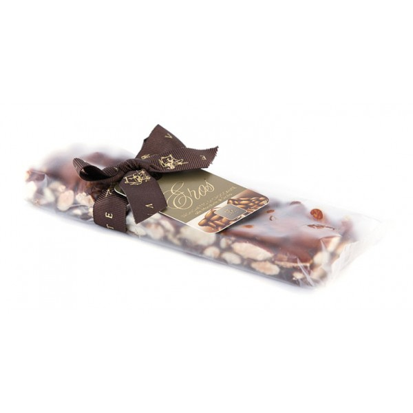 Vincente Delicacies - Crunchy Nougat Bar with Sicilian Almonds - Eros - Opal Ribbon Flow-Pack