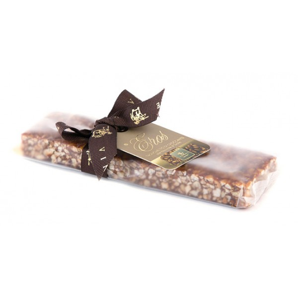 Vincente Delicacies - Crunchy Nougat Bar with Sicilian Hazelnuts - Eros - Opal Ribbon Flow-Pack