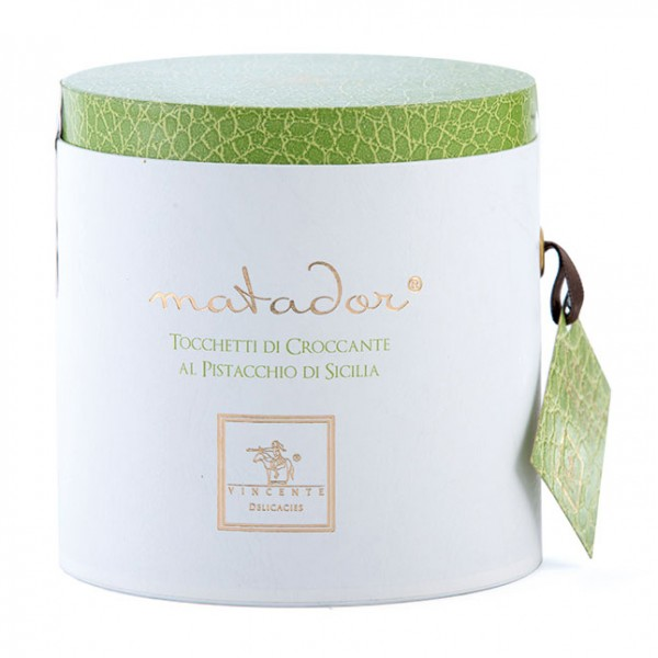 Vincente Delicacies - Crunchy Nougat Pieces with Sicilian Pistachios - Matador Prestige Box
