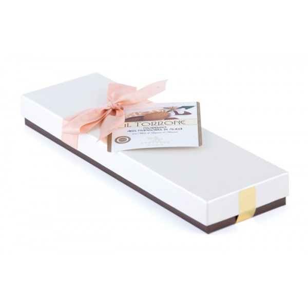 Vincente Delicacies - Soft Nougat Bar with Sicilian Almonds - Ribbon Box