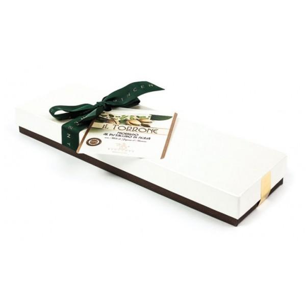 Vincente Delicacies - Torrone Morbido al Pistacchio Sicilia - Scatola Fiocco